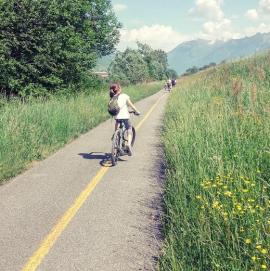 cycling paths Valtellina